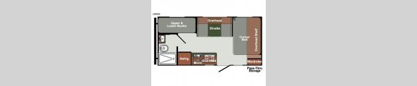 Gulf Breeze Ultra Lite 18RBD Floorplan
