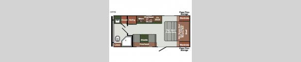 Gulf Breeze Ultra Lite 19FMB Floorplan