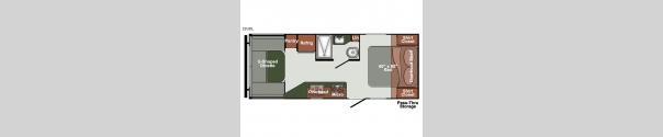 Gulf Breeze Ultra Lite 22UDL Floorplan