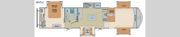 Columbus Compass 381FLC Floorplan