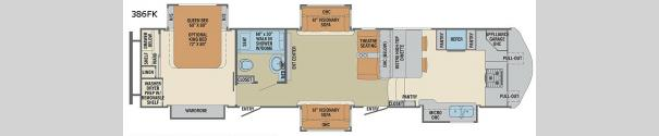 Columbus F386FK Floorplan