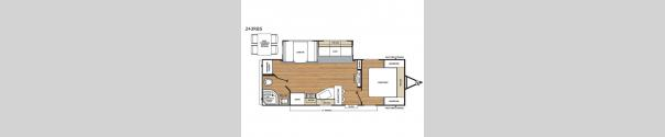 Catalina Legacy 243RBS Floorplan