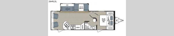Kodiak Ultra Lite 264RLSL Floorplan