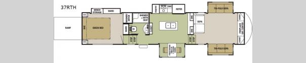 Cedar Creek Silverback 37RTH Floorplan