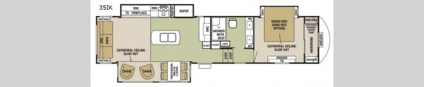 Cedar Creek Silverback 35IK Floorplan