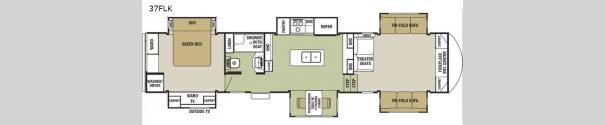 Cedar Creek Silverback 37FLK Floorplan
