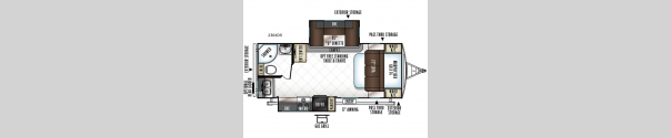 Rockwood Ultra Lite 2304DS Floorplan