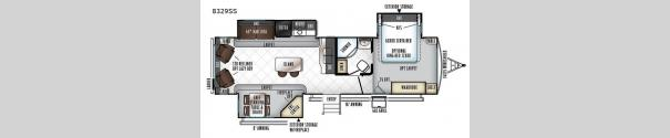 Rockwood Signature Ultra Lite 8329SS Floorplan