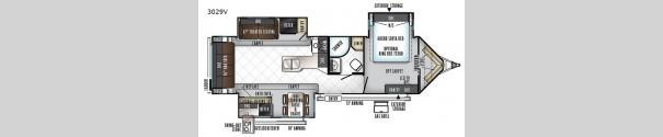 Rockwood Wind Jammer 3029V Floorplan