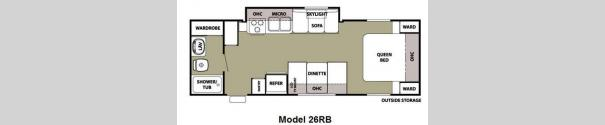 Cherokee Grey Wolf 26RB Floorplan