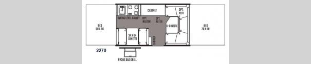Rockwood Freedom Series 2270 Floorplan