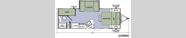 Apex Ultra-Lite 235BHS Floorplan
