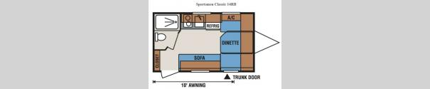 Sportsmen Classic 14RB Floorplan