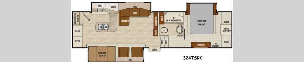 Chaparral 324TSRK Floorplan