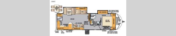 Wildcat Maxx 28RKX Floorplan