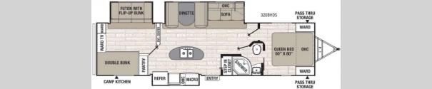 Freedom Express Liberty Edition 320BHDS Floorplan