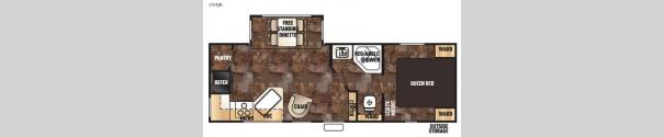 Cherokee 244JR Floorplan