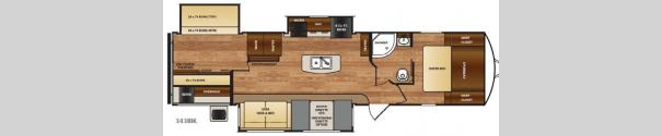 Wildcat 343BIK Floorplan