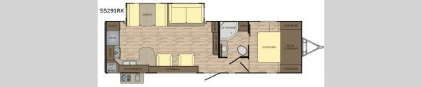Sunset Trail Super Lite SS291RK Floorplan