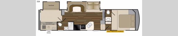 ElkRidge Xtreme Light 326 Floorplan