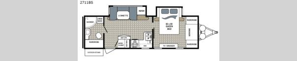 Kodiak Ultra Lite 2711BS Floorplan