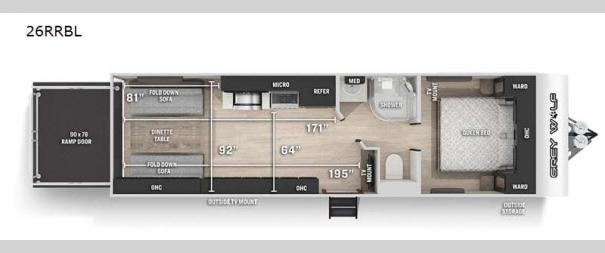 Cherokee Grey Wolf Black Label 26RRBL Floorplan