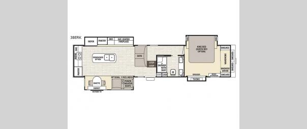 Cedar Creek Champagne Edition 38ERK Floorplan