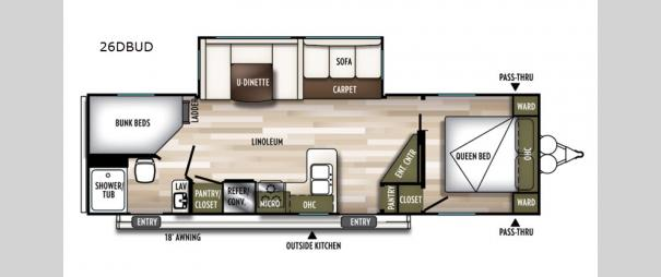 Wildwood 26DBUD Floorplan