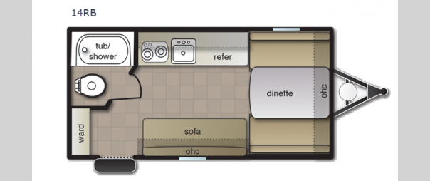 Pacifica XL 14RB Floorplan