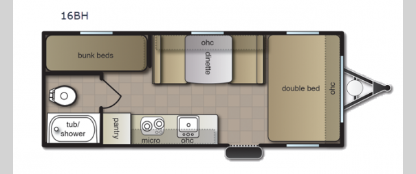 Pacifica XL 16BH Floorplan