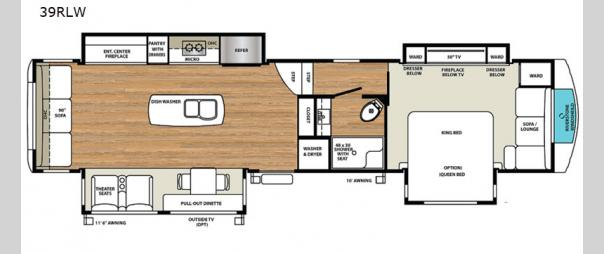 RiverStone 39RLW Floorplan