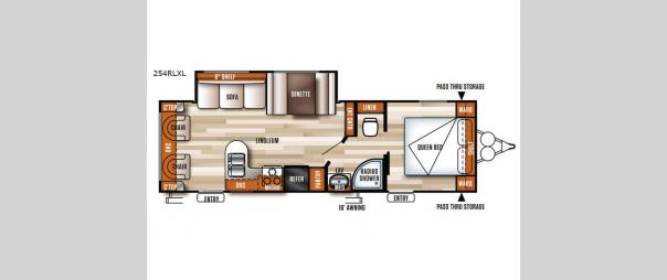 Salem Cruise Lite 254RLXL Floorplan