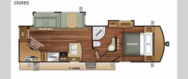 Telluride 250RES Floorplan
