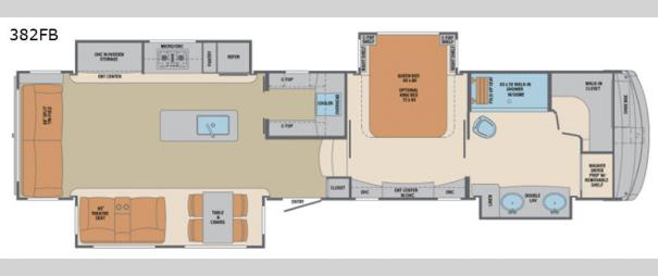 Columbus 1492 382FB Floorplan