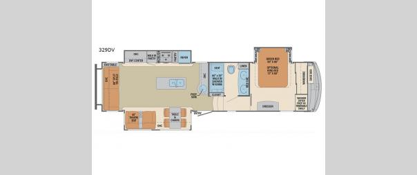 Columbus 329DV Floorplan