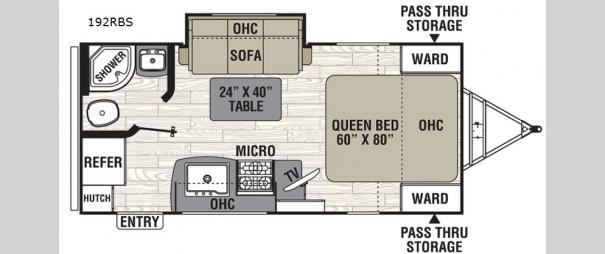 Freedom Express Ultra Lite 192RBS Floorplan