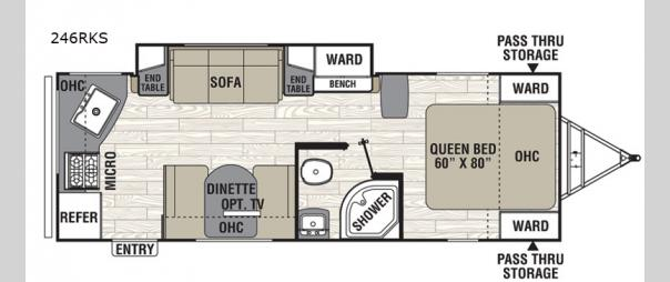 Freedom Express Ultra Lite 246RKS Floorplan