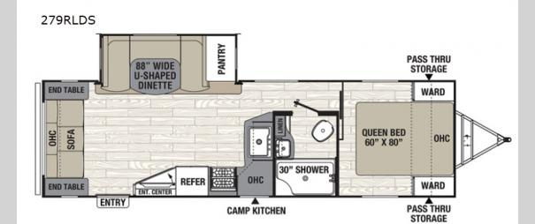 Freedom Express Ultra Lite 279RLDS Floorplan