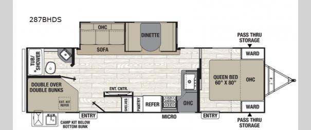 Freedom Express Ultra Lite 287BHDS Floorplan