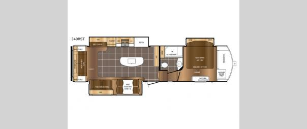 Crusader 340RST Floorplan