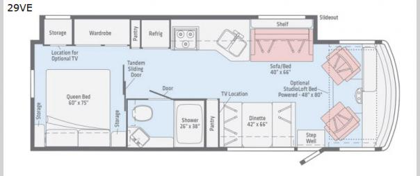 Vista 29VE Floorplan