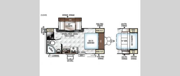 Rockwood Mini Lite 2104S Floorplan