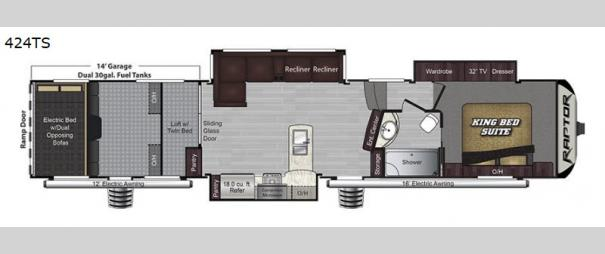 Raptor 424TS Floorplan