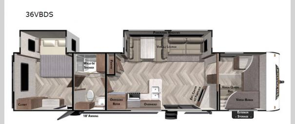 Wildwood 36VBDS Floorplan