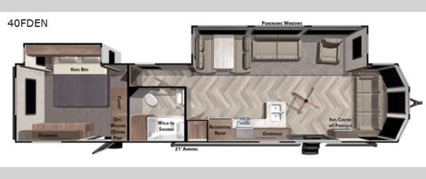 Wildwood DLX 40FDEN Floorplan