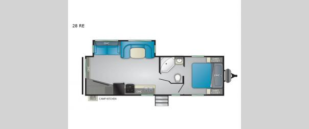 Trail Runner 28RE Floorplan
