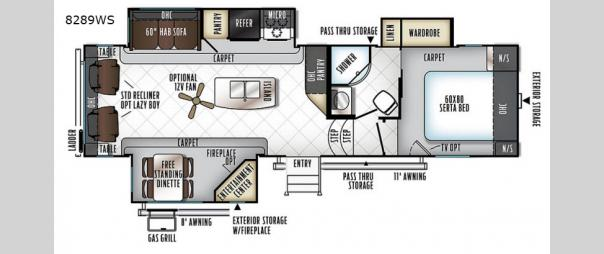 Rockwood Signature Ultra Lite 8289WS Floorplan