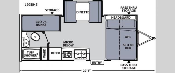 Apex Nano 193BHS Floorplan