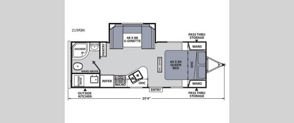 Apex Ultra-Lite 215RBK Floorplan