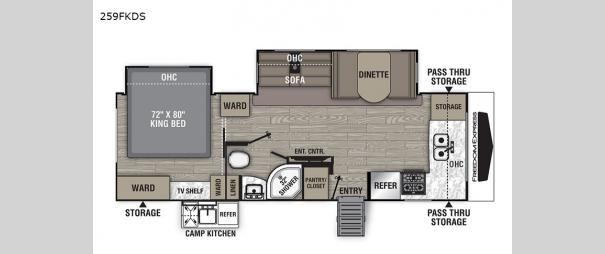 Freedom Express Ultra Lite 259FKDS Floorplan